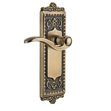 Grandeur Windsor Passage Door Lever; Vintage Brass