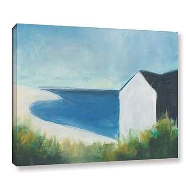 Longshore Tides 'Beach Hut' Painting Print on Wrapped Canvas; 36'' H x 48'' W x 2'' D