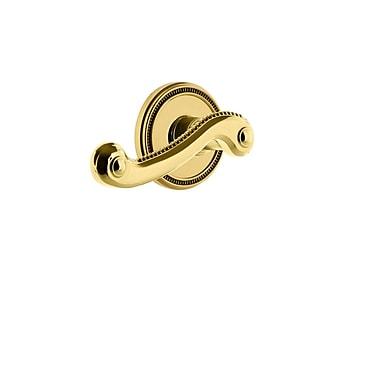Grandeur Newport Door Lever w/ Soleil Rosette; Lifetime Brass