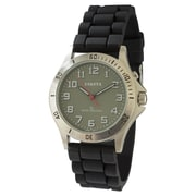 Dakota Analog Watch With El Backlight, Black/Charcoal, Women (5382-1)