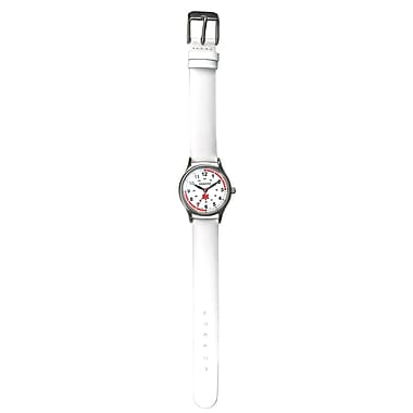 Dakota Analog Nurse Watch, White/Ivory/Cream, Women (5654-8)