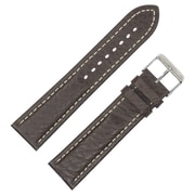 Dakota 18mm Brown Slope Pad Shrunken Geniune Leather Strap (54149)