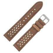 Dakota 18mm Brown Vintage Geniune Leather with Holes Strap (66948)