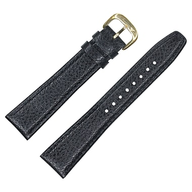 Dakota 18mm Black Genuine Leather, Semipad Strap (54283)