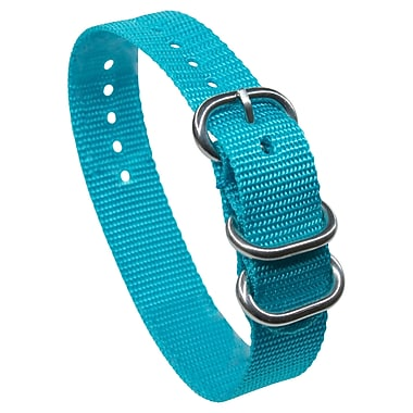 Dakota 18mm Aqua Slip Through Vibrant Colored Nylon Strap (59220)