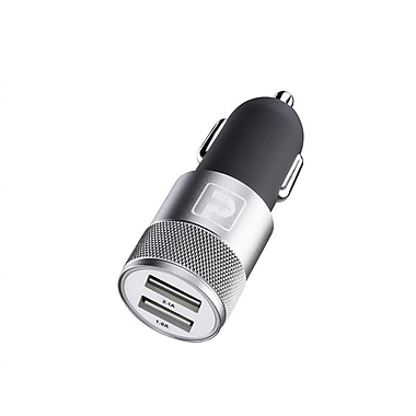 Powerology - Chargeur d'auto USB double (PCRBK)