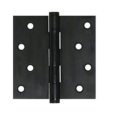 Deltana 4'' H x 4'' W Butt/Ball Bearing Single Door Hinge; Oil Rubbed Bronze