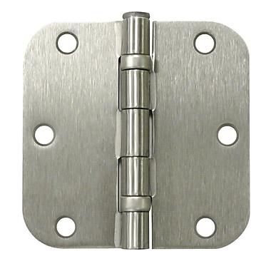 Deltana 3.5'' H x 3.5'' W Butt/Ball Bearing Single Door Hinge; Brushed Nickel