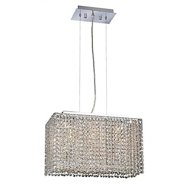 Elegant Lighting Moda 3-Light Pendant; Crystal (Clear) / Spectra Swarovski