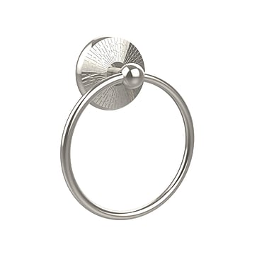 Allied Brass Monte Carlo Wall Mounted Towel Ring; Polished Nickel