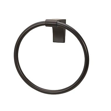 Alno Luna Wall Mounted Towel Ring; Bronze