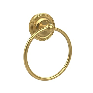 Allied Brass Universal Wall Mounted Towel Ring; Polished Brass