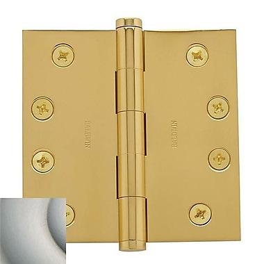 Baldwin 4'' H x 4'' W Butt Bearing Single Door Hinge; Oil Rubbed Bronze