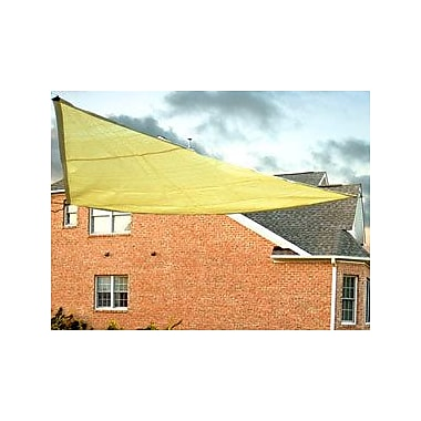 King Canopy 10' Triangle Shade Sail; Yellow