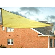 King Canopy 10' Triangle Shade Sail; Yellow