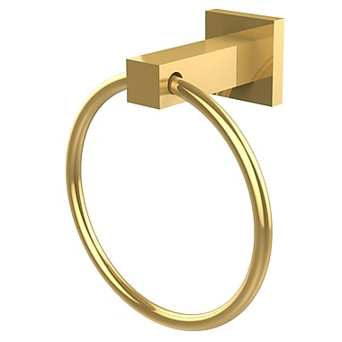 Allied Brass Montero Wall Mounted Towel Ring; Unlacquered Brass