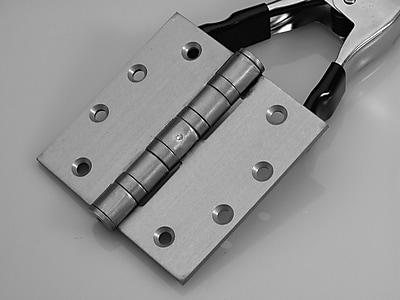 DON-JO MFG INC. Butt/Ball Bearing Single Door Hinge; Brushed Chrome