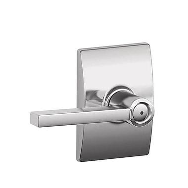 Schlage Latitude F Series Privacy Door Lever w/ Century Rosette; Bright Chrome