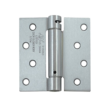 Deltana 4'' H x 4'' W Steel Single Spring Door Hinge; Paint Black