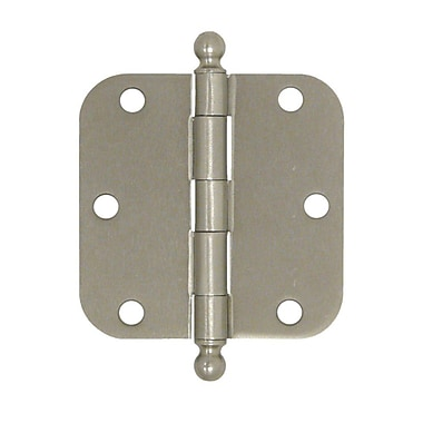 Deltana 3.5'' H x 3.5'' W Butt/Ball Bearing Door Hinge; Brushed Nickel