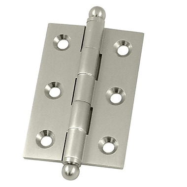 Deltana 2.5'' H x 1.7'' W Butt/Ball Bearing Single Door Hinge; Brushed Nickel
