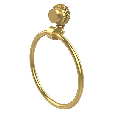 Allied Brass Venus Wall Mounted Towel Ring w/ Twist Detail; Polished Brass