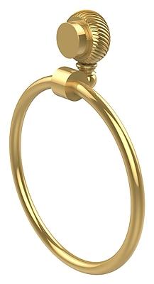 Allied Brass Venus Wall Mounted Towel Ring w/ Twist Detail; Polished Brass