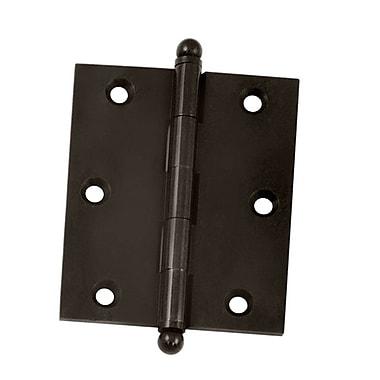 Deltana 3'' H x 2.5'' W Butt/Ball Bearing Single Door Hinge; Oil-Rubber Bronze