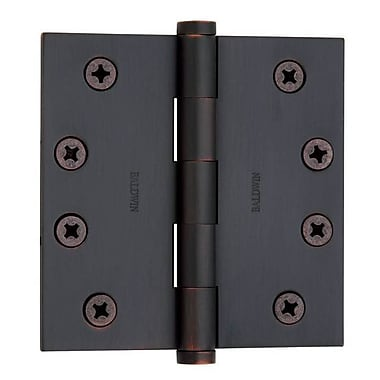 Baldwin 4'' H x 4'' W Butt Bearing Single Door Hinge; Venetian Bronze