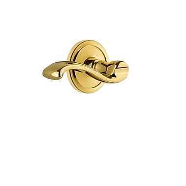 Grandeur Portofino Door Lever w/ Circulaire Rosette; Polished Brass