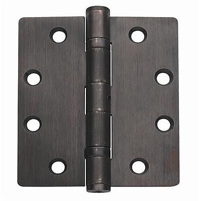 Global Door Controls 4.5'' H 4.5'' W Butt/Ball Bearing Set of 3 Door Hinges (Set of 3) WYF078281848896