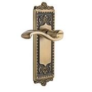 Grandeur Windsor Single Dummy Right Hand Door Lever; Vintage Brass