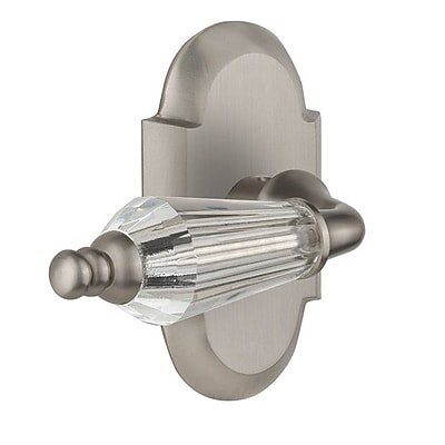 Nostalgic Warehouse Parlour Privacy Door Lever w/ Cottage Plate; Satin Nickel