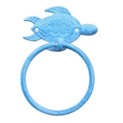 Handcrafted Nautical Decor Sea Turtle Towel Ring; Light Blue