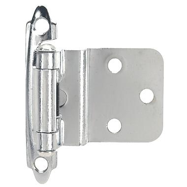 Hardware House 2.75'' H x 2'' W Self-closing Pair Door Hinge (Set of 2); Chrome