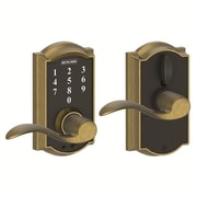 Schlage Camelot FE Series Keyless Electronic Touchscreen Entry Door Lever w/ Accent Lever
