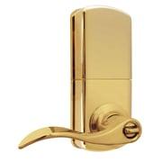 Milocks Remote Control Keyless Electronic Door Lever; Polished Brass