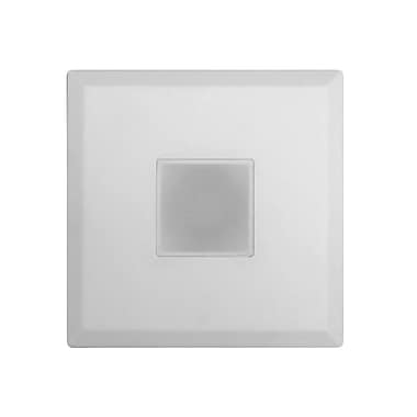 NICOR Lighting SureFit Ultra Slim Surface Mount LED Downlight 5.15'' Square Recessed Trim; White