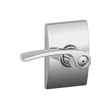 Schlage Merano F Series Privacy Door Lever w/ Century Rosette; Bright Chrome