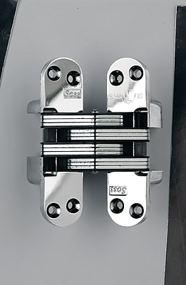 SOSS Invisible/Concealed Single Door Hinge; Unplated
