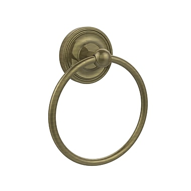 Allied Brass Universal Wall Mounted Towel Ring; Antique Brass