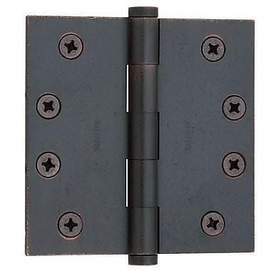 Baldwin 4'' H x 4'' W Butt Bearing Single Door Hinge; Distressed Venetian Bronze