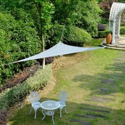 Cool Area 9'8'' Triangle Shade Sail; Slivery