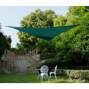 Cool Area 16'4'' Triangle Shade Sail; Green