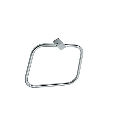 Stilhaus by Nameeks Fluid Wall Mounted Towel Ring; Chrome