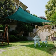 Cool Area 16'4'' Square Shade Sail; Green
