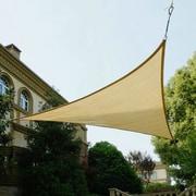 Cool Area 9'8'' Triangle Shade Sail; Sand