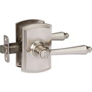 Delaney Hardware Italian Florini Privacy Reversible Door Lever; Satin Nickel