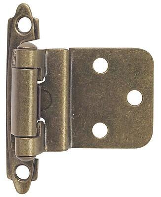 Hardware House 2.75'' H x 2'' W Self-closing Single Door Hinge (Set of 10); Antique Brass WYF078281849365