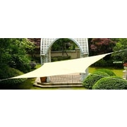 Cool Area 9'8'' x 13'1'' Rectangle Shade Sail; Sand